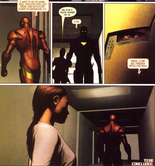 Iron Man leaves to confront Mallen